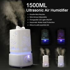 1500ML Ultrasonic Air Humidifier Purifier 7 Color LED Aroma Diffuser Nebulizer N