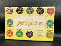 "Rare Vintage Drink MOXIE Soda Advertising Zodiac Compact Pocket Mirror 2"" x 3"""