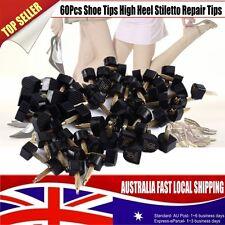 BEST 60Pcs Shoe Tips Mixed Black PU High Heel Stiletto Repair Tips Cap Plates