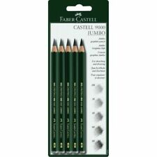 5 PC Quality Castell 9000 Jumbo Graphite Pencils BLISTER Card Set Includin Green