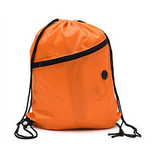 Cinch Sack Waterproof Storage School Gym Drawstring Bag Pack Backpack Pouch