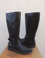 UGG EVANNA BLACK TALL WATERPROOF LEATHER SNOW BOOTS, WOMEN US 10/ EUR 41 ~NIB