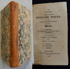 P/ THE LIVES OF ENGLISH POETS Samuel Johnson 1815 (Blackmore, Fenton, Savage...)