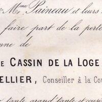 Marie Cassin De La Loge Jean Louis Le Tellier 1869