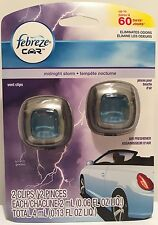 Febreze Car Vent Clips - MIDNIGHT STORN SCENT - Twin Pack Purple