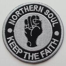 NORTHERN SOUL KEEP THE FAITH Iron On Patch Mod