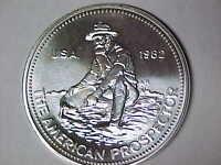 1982 Engelhard American Prospector 1 oz .999 Fine Silver Big E Reverse (121117)