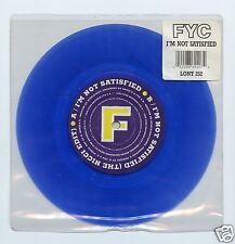 """Fine Young Cannibals/I'm Not satisfied + 1  (UK/45 RPM 7"""" BLUE Vinyl Record)"""