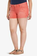 NWT Torrid Plus Size Skinny Short Shorts Red Wash With Destruction  24 - 3X