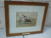 19TH CENTURY WATERCOLOUR HORSE RACING MY WORST FALL SIGNED BY ARTIST, C.1885.