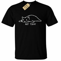 Not Today T-Shirt Cat funny lazy sleepy kitty mens top