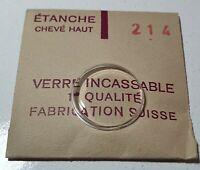 Verre de montre suisse bombé plexi diamètre 214 Watch crystal vintage *NOS*