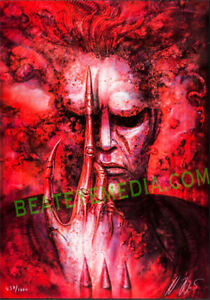 Hr Giger,Movie POSTER,Halloween,Original ART,monster,monsters,SciFi,HORROR,comic