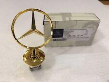 Genuine gold Mercedes Benz Star Hood Logo Chrome Emblem Badge W123 W126 W201