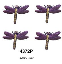 #4372P Lot 4Pcs Purple Dragonfly Embroidery Iron On Applique Patch