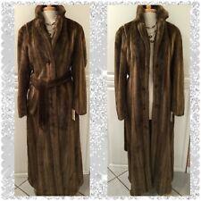 Womens Victoria's Secret Faux Mink Coat, Sz Large