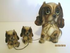Collectible Vintage Porcelain Bisque Dog With Puppies