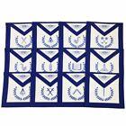 Masonic Blue Lodge Officers Machine Embroidered Apron - Set of 12