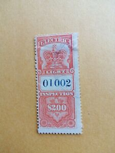 CANADA 1895 CROWN ELECTRIC LIGHT INSPECTION $2, #FE4 ,FU