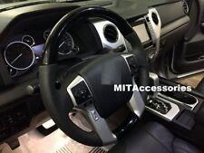 TOYOTA TUNDRA 2014-2018 BLACK PIANO wood look Genuine leather steering wheel