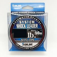 SUNLINE Saltwater Special SYSTEM SHOCK LEADER NYLON 50m Free Shipping