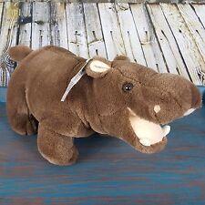 Vtg Giant Star Rare 1994 Hippo Plush Stuffed Animal With Hang Tag Brown