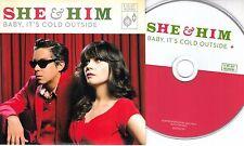 SHE & HIM Baby, It's Cold Outside 2012 UK 1-trk promo CD