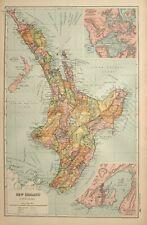Carte de 1908 NOUVELLE-ZÉLANDE WELLINGTON Auckland Napier Cook waiapu Manukau