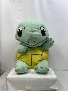 "Jumbo Squirtle Pokemon Character Plush 21"" Toy Factory 2017 Styrofoam Filled"
