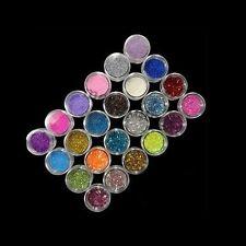 24 colori di arte del chiodo di trucco della decorazione Glitter Polveri