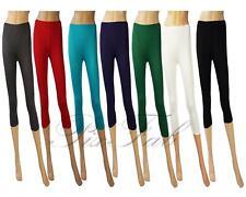 Womens Black White Green Red Blue Purple Smart Short 3/4 Summer Legging 8 - 22