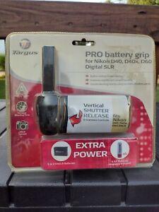NOS Targus PRO Battery Grip For Nikon D40, D40x, D60, Digital SLR