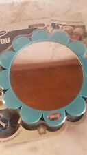 Goody Magnetic Locker Mirror Holds Photos #27139 Flower Plastic Round