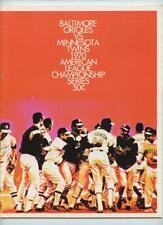 1970 Baltimore Orioles ALCS Program vs. Minnesotta Twins Unscored Scorecard