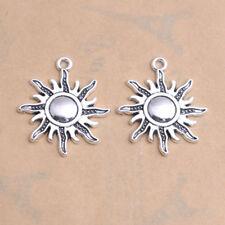 Tibetan Silver lovely Sun Charm Bracelet Connector Pendant Jewelry Findings #15