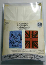 Sizzix texture fades -Tim Holtz London Icon & union Jack- A2  RRP £7.99