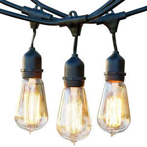 Brightech Ambience Vintage 48 Foot 40 Watt Vintage Bulb Outdoor String Lights