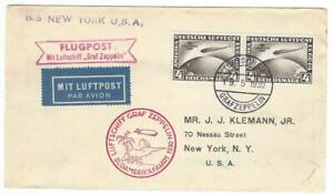 1930 Zeppelinpost LZ127 Graf Zeppelin Südamerikafahrt Roter Bestätigungsstempel