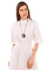 RRP €1435 LANVIN Chain Necklace Rhinestones Embellished Sun Design Pendant Tie
