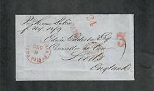 "Transatlantic Ship Cover Philadelphia To England 1853 ""Baltic"""