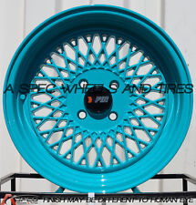 15X8 F1R F01 WHEEL 4x100 +25 73.1 TEAL RIM FITS MAZDA MIATA 1990-2005 SCION TC