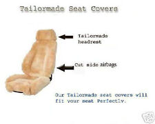 LUXURIOUS Australian Sheepskin Taliormade Seat Covers with Matching headrests