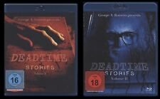 BLU-RAY DEADTIME STORIES VOLUME 1 + 2 - GEORGE A. ROMERO - FSK 18 HORROR * NEU *