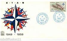 1959/FDC 1°JOUR** PALAIS DE L' OTAN-SESSION MINISTERIELLE**TIMBRE Y/T 1228