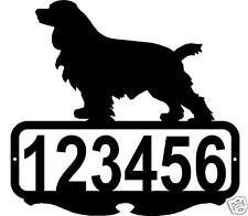 COCKER SPANIEL CUSTOM ADDRESS SIGN PERSONALIZED NAME SIGN DOG METAL ART DECOR