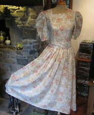 VINTAGE LAURA ASHLEY SUMMER ROSE TEA DRESS. NEW, NEVER BEEN WORN. SIZE 10.
