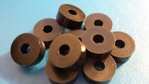 HIGH QUALITY M8 x 25 x 10mm  BLACK NYLON  NYLON SPACER / WASHER  QTY = 10