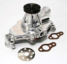 SBC Short Aluminum Water Pump Polished Finish High Volume Small Block Chevy 350