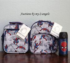 Pottery Barn Kids ALLOVER SPIDERMAN Pre-K Backpack Lunch Bag Water Bottle *comic