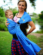 Walkabout Baby Ring Sling Carrier Pouch 100% Cotton Newborn To Toddler Blue NEW